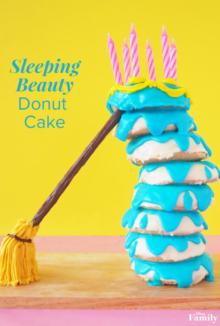 This donut stackis inspired by the cake made for Aurora and is so perfectly imperfect—your family will love the look of it as much as they will devouring it. Click for the 'Sleeping Beauty' donut recipe.