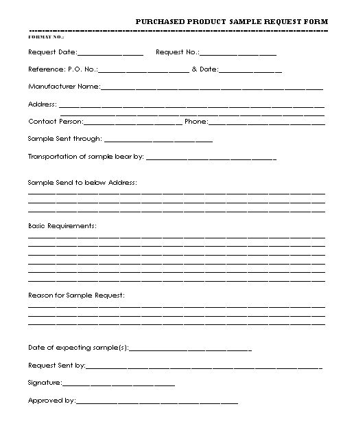 Free Sample Request Form 5 Request Form Templates Formats - time off request forms