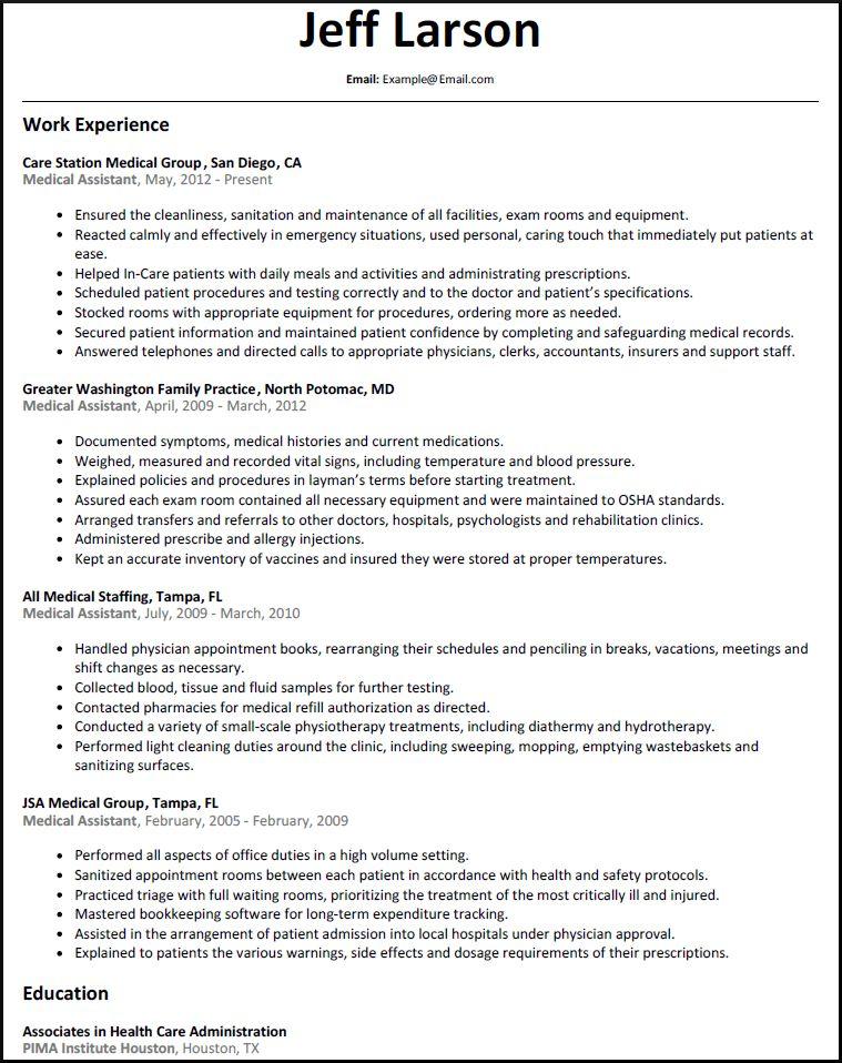 Medical Assistant Resume 16 Free Medical Assistant Resume - medical support assistant resume