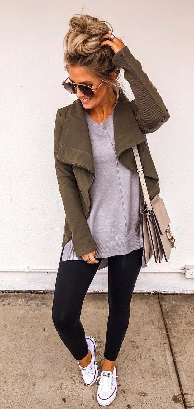 brown leather knee high boots #winter #outfits