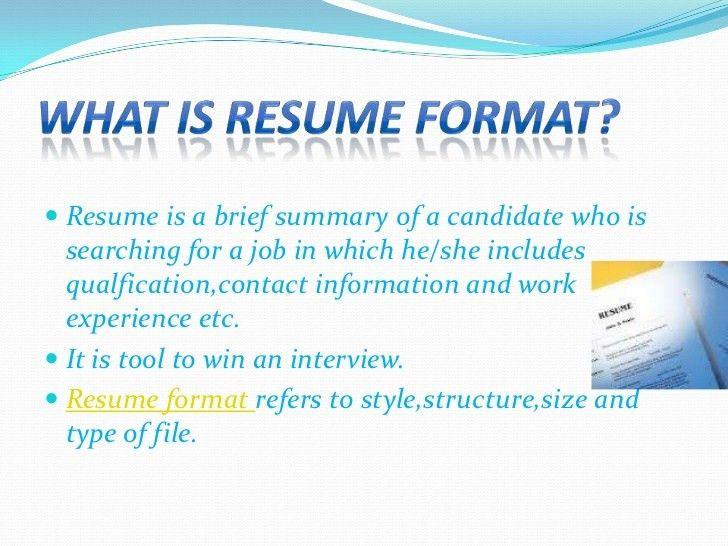 Resume Type Format | Resume CV Cover Letter
