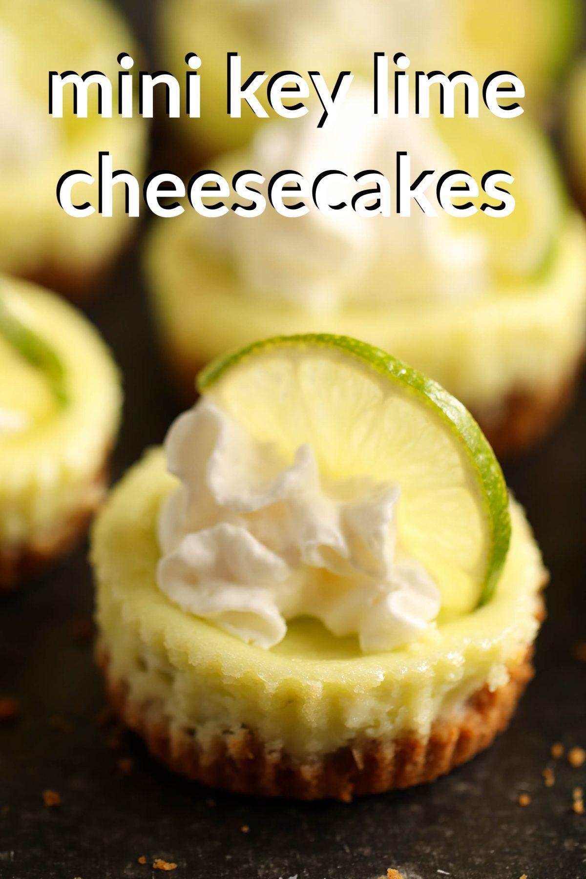 Mini Key Lime Cheesecakes   Six Sisters' Stuff