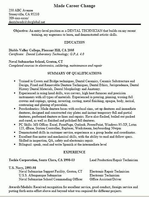 Resume Objective For Dental Assistant Dental Assistant Resume