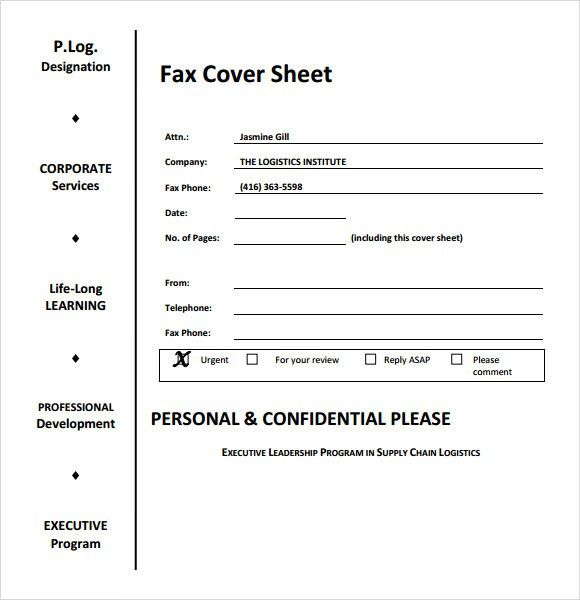 Fax Cover Sheet Template Pdf Free Fax Cover Sheet Template - sample cute fax cover sheet