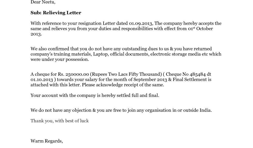 no dues letter format hitecauto - format for letter of reference