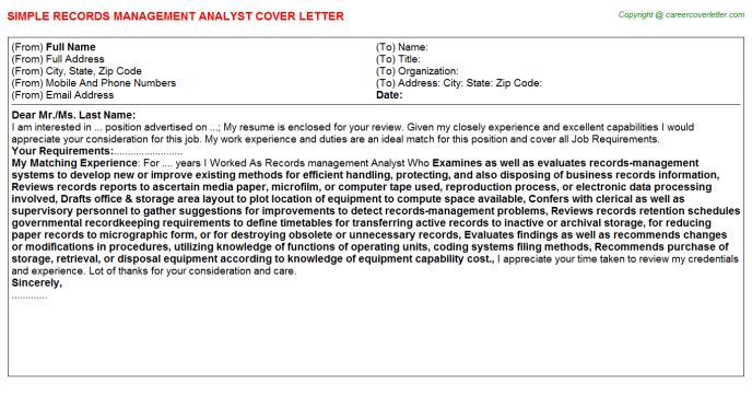 Budget Analyst Cover Letter Sample Commission