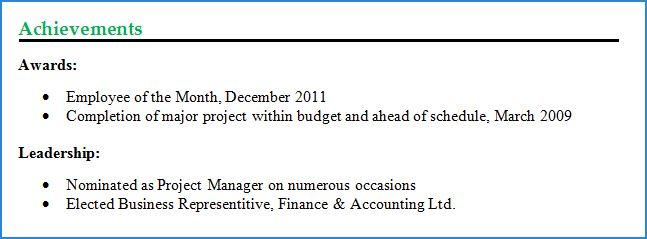Achievements For Resume Examples Cio Technology Executive Resume