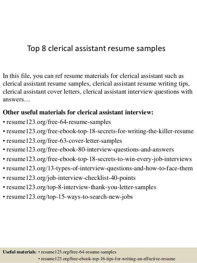 sample resume for clerical office clerk resume entry level office clerk resume sample resume clerical work
