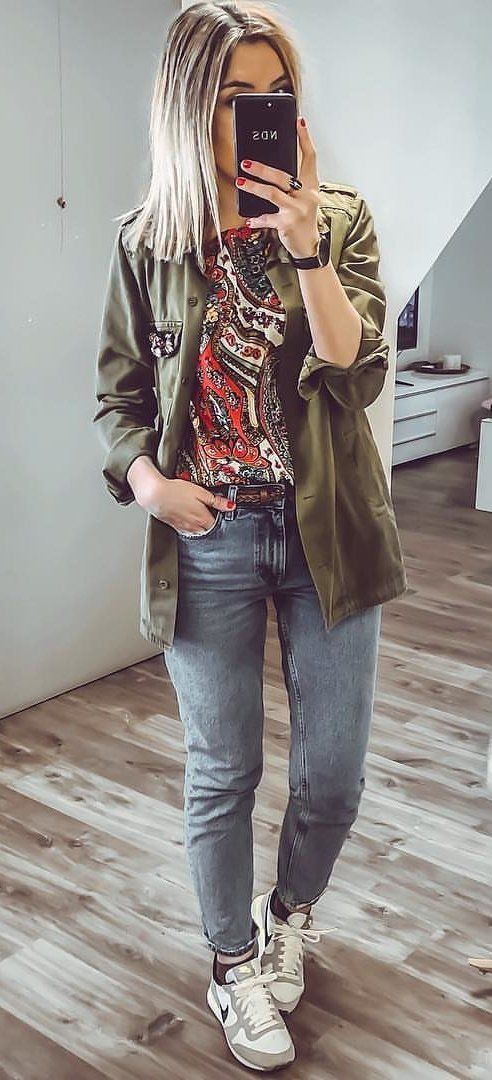 green jacket #summer #outfits