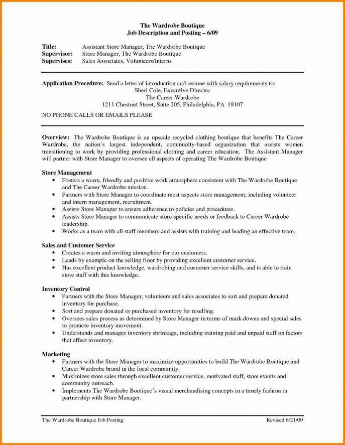 Wardrobe Assistant Sample Resume] Top 8 Wardrobe Assistant ...