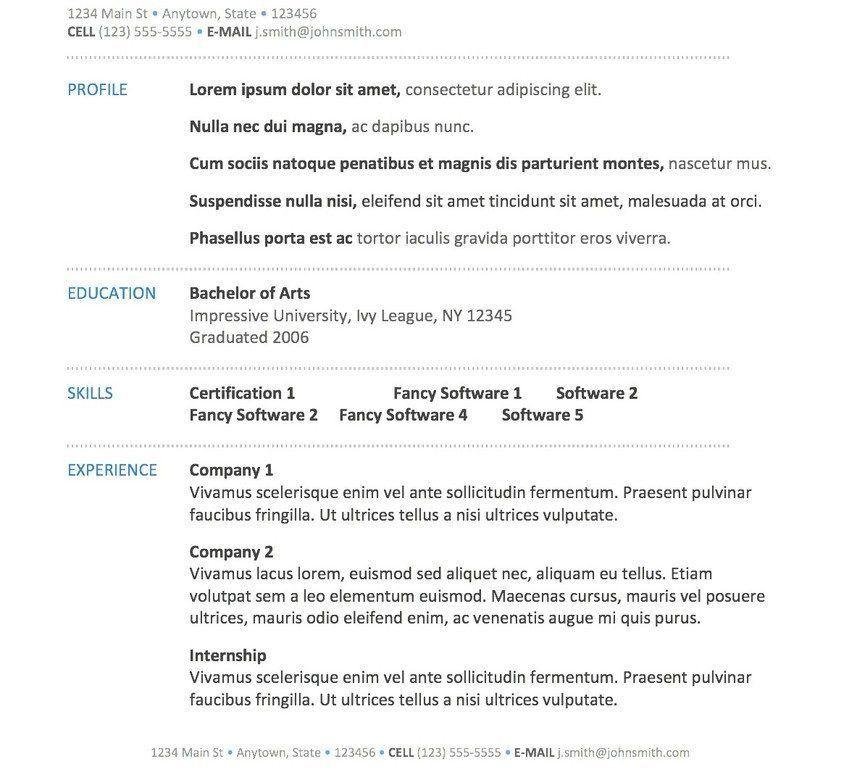 mac resume builder