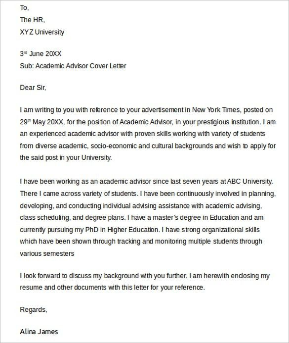 Emejing International Student Advisor Cover Letter Contemporary ...