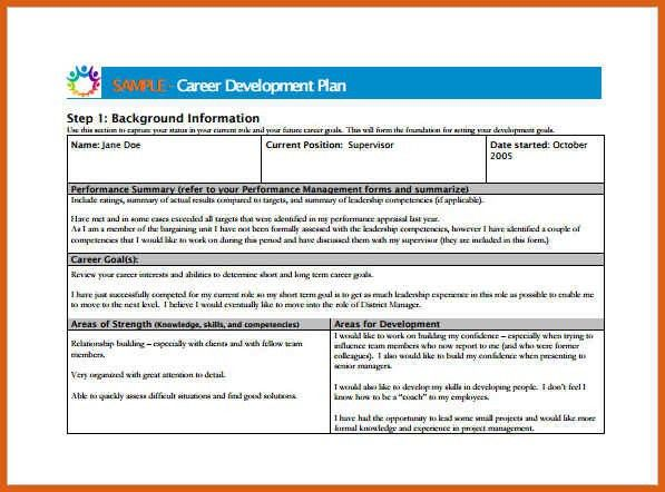 Development Plan Template For Employees Employee Development Plan - career progression plan template