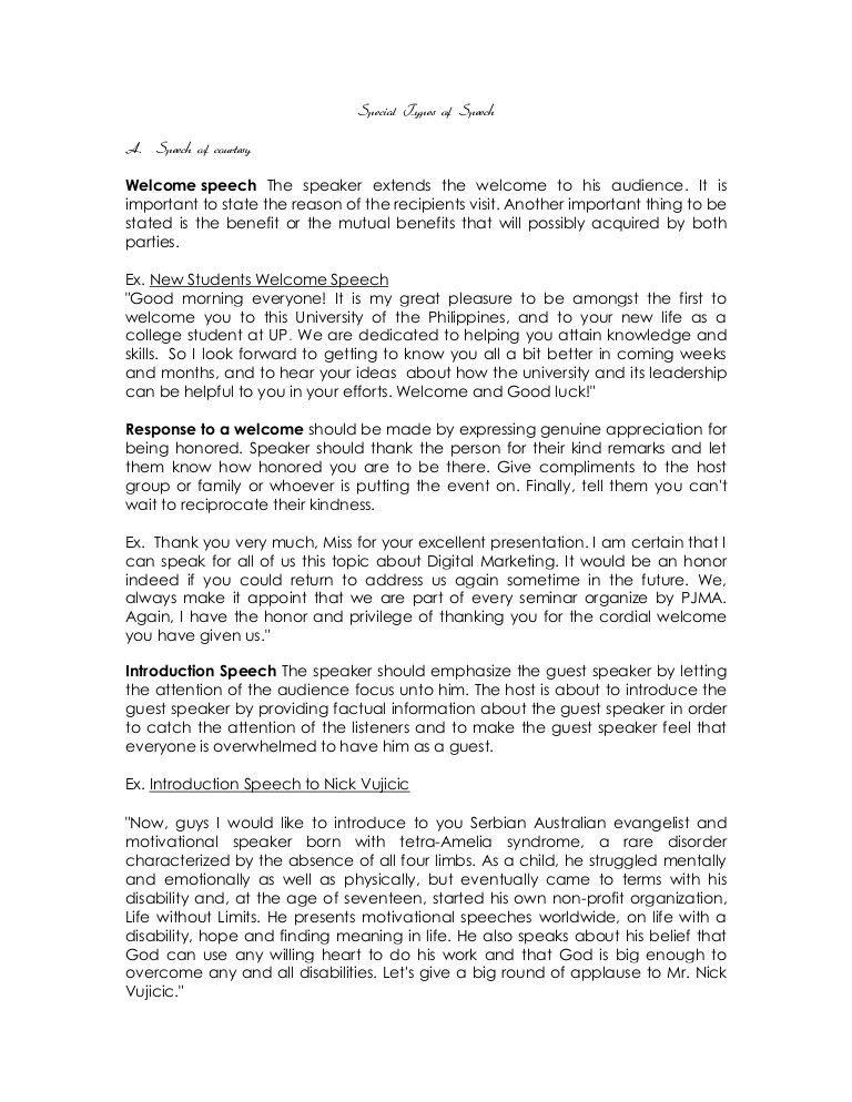 Presentation-speech-example-template-31 sample self introduction - acceptance speech example template