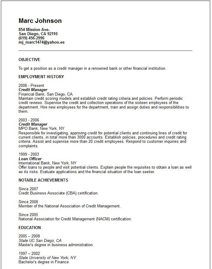 Resume Achievements Examples - Examples of Resumes