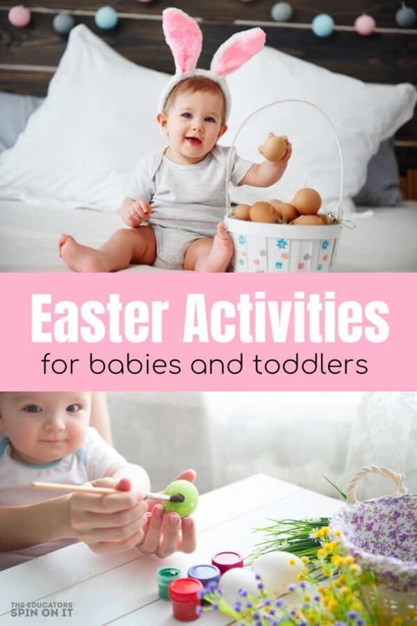 Easter Activities for Babies and Toddlers. Adorable hands on ideas this Easter to do with your little one. Grab the eggs and let's have some fun!