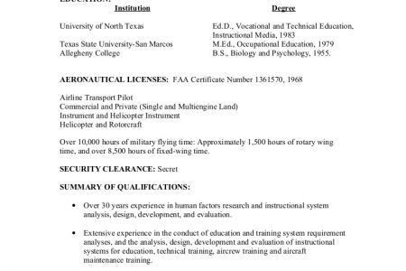 resume for air force pilot free sample resume cover sample resume