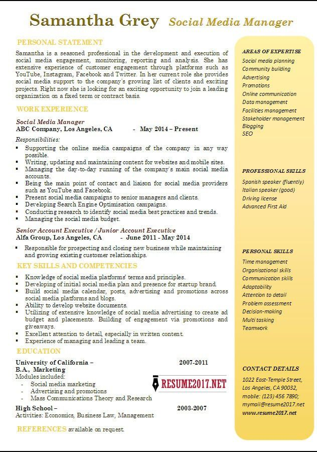 Media Resume Examples - Examples of Resumes - new media specialist sample resume