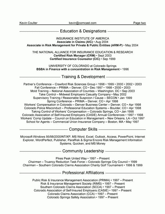 Sample Insurance Resumes Agent Resume Example Manager Resume