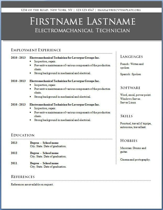 Resume Samples Word Format 7 Free Resume Templates Primer, Cv - resume sample in word