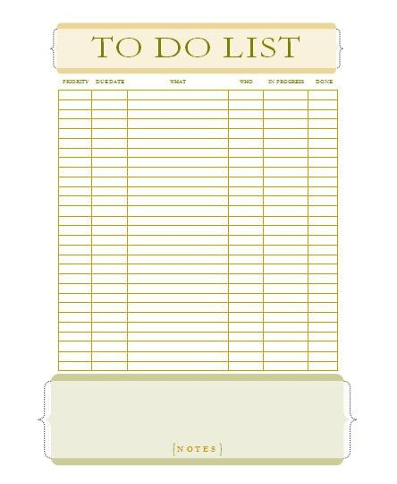 microsoft word to do list template
