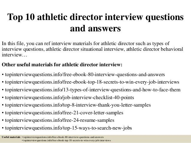 Athletic Director Cover Letter Assistant Athletic Director Cover