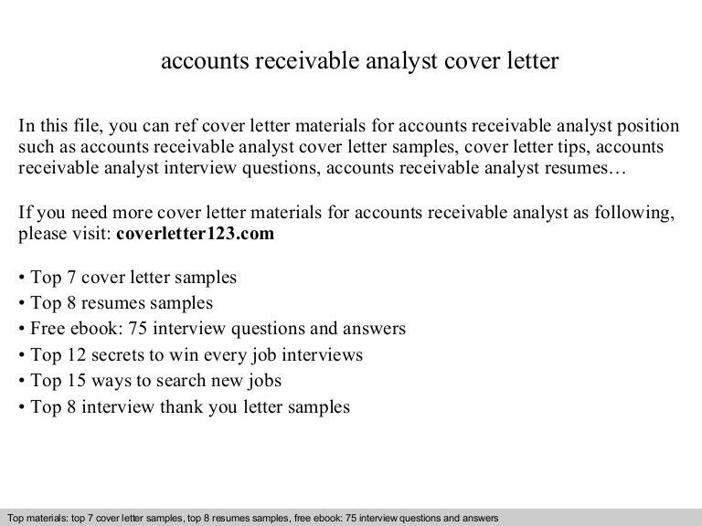 sample accounting analyst cover letter accounts receivable cover letter for accounts receivable