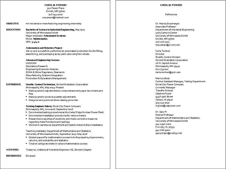 industrial engineer resume examples examples of resumes - Industrial Engineering Resume Samples