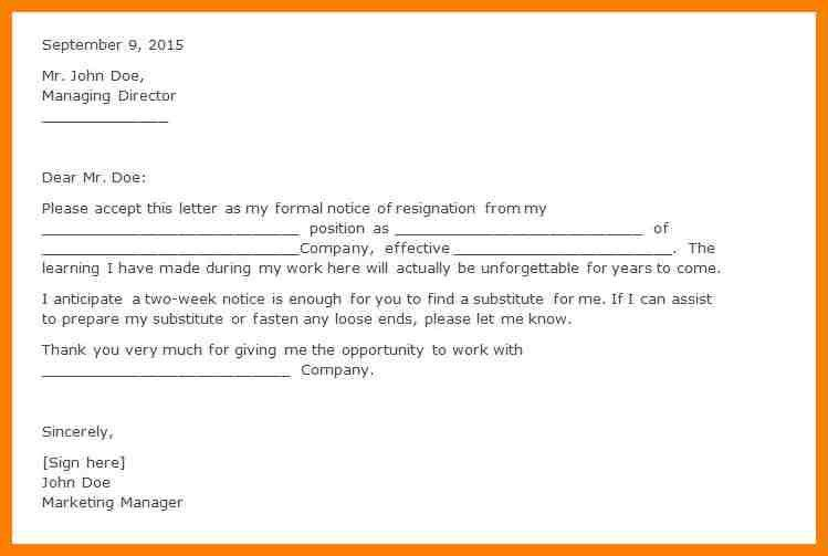writing internship resignation letter hitecauto - letter of resignation examples