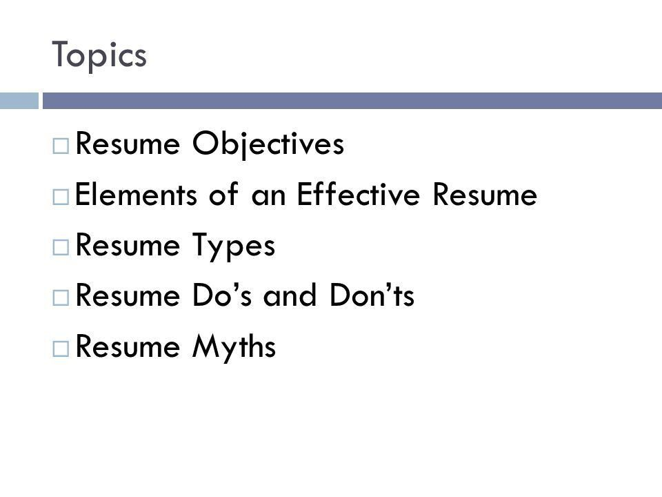 Types Of Resume And Examples Samples Formats