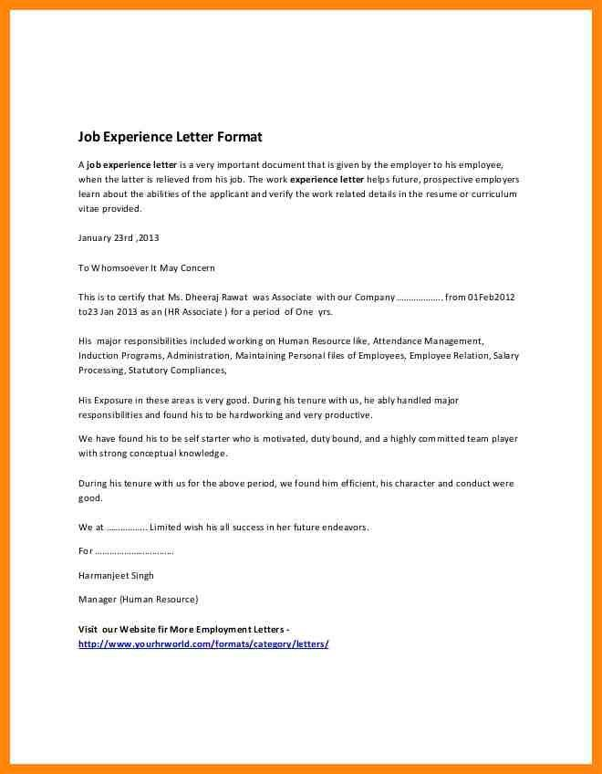 no objection certificate format for job