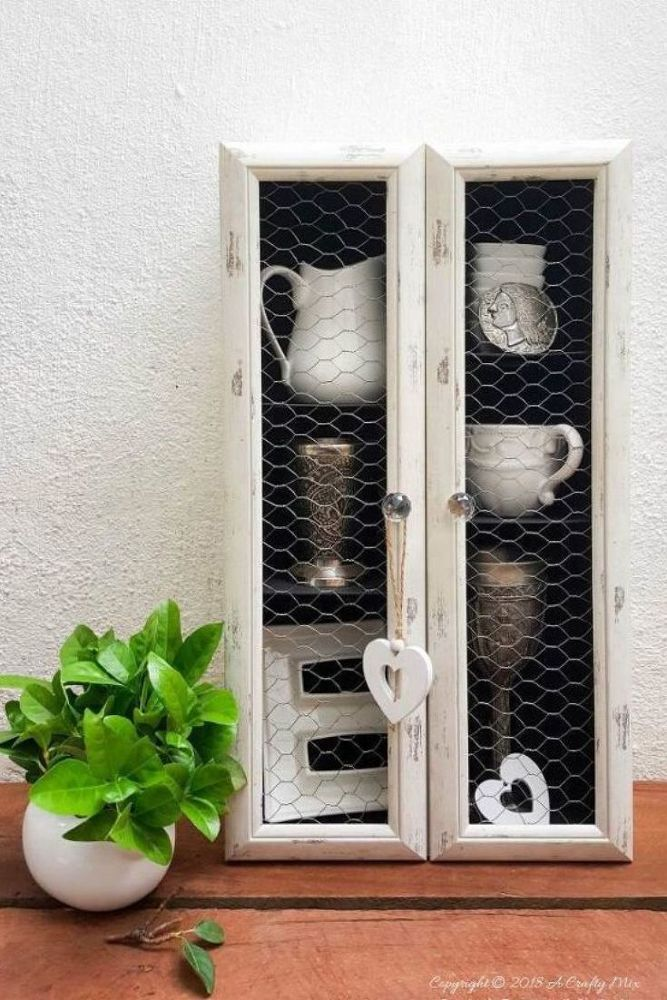 decorating on a budget? check out this joanna gaines inspired rustic cupboard makeover idea. This farmhouse furniture makeover is perfect for your living room, kitchen and even bedroom so be sure to see the before and after photos of this upcycled country furniture project. #diy #farmhouse #decor