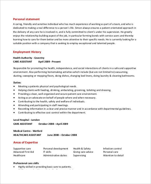 unforgettable personal care assistant resume examples to stand out