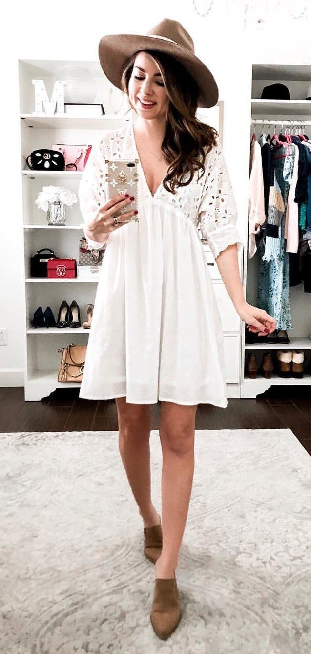 white and black dress #winter #outfits