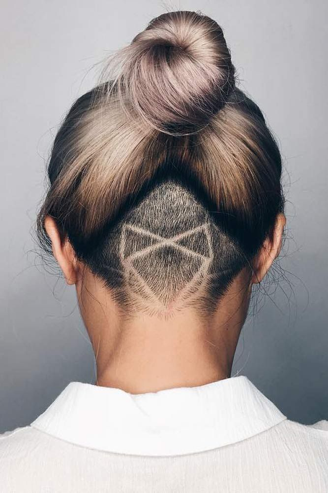Stunning Undercut Hair Witn Hopster Pattern #shavinghair #longhair ★  Undercut women hair styles are super daring, and that is why not every babe can pull one off. But if you are an artistic person or a tomboy we are sure that you can sport an undercut. See the trendiest undercuts here. #glaminati #lifestyle #undercutwomen