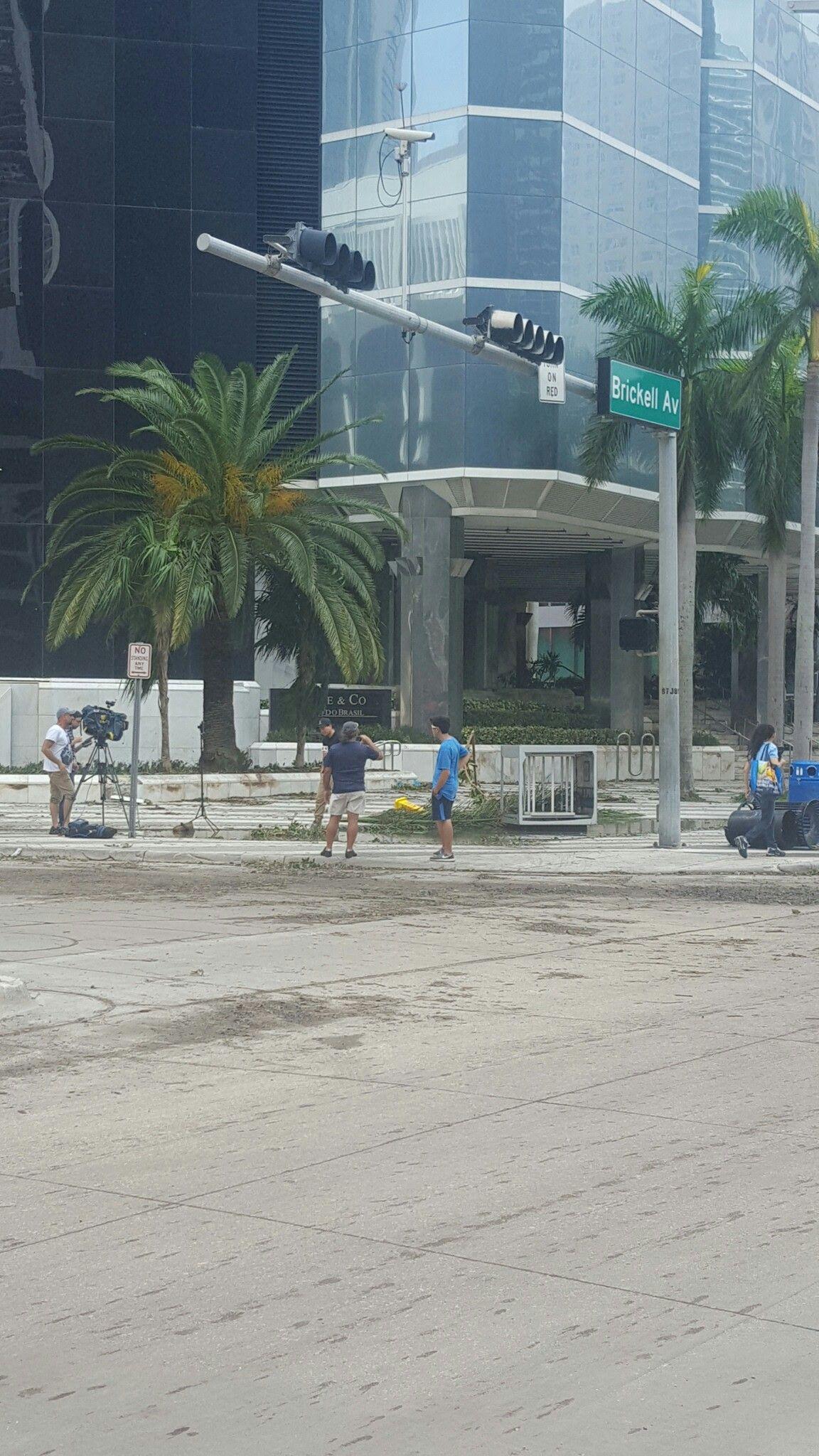 Miami Brickell the day after hurricane Irma Miami