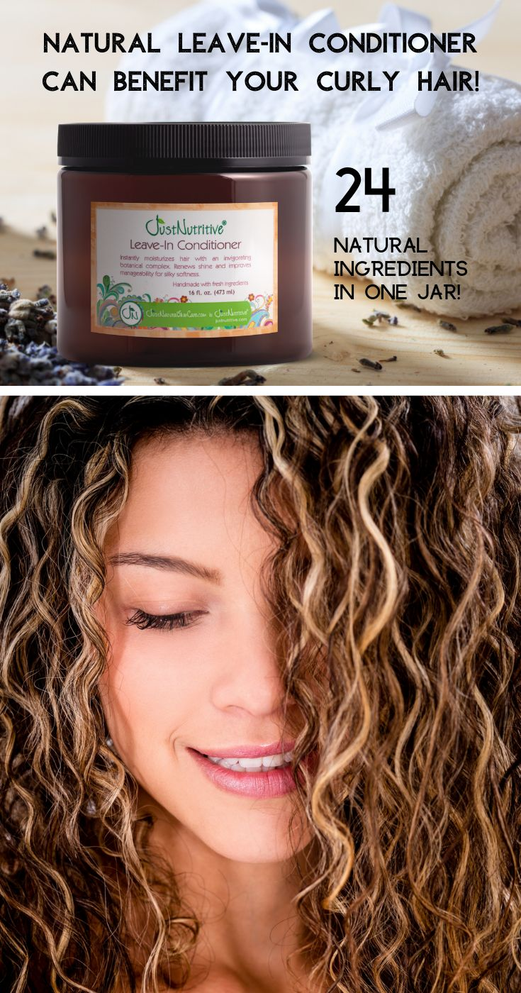 Natural Leave-in Conditioner can benefit your curly hair!