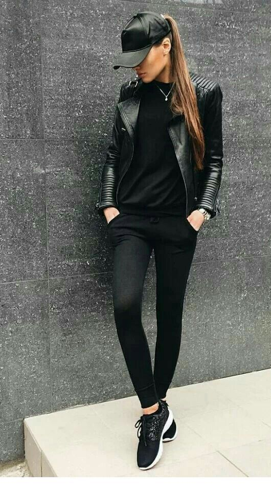 All black sport style