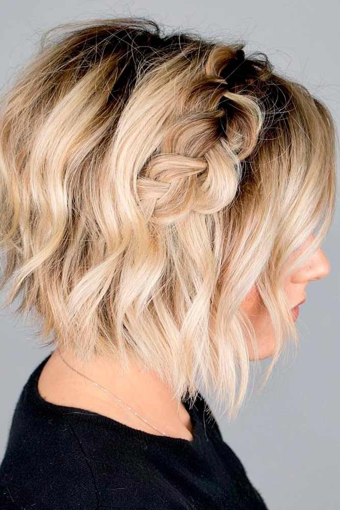 Short Side Braid Hairstyle #shorthairstyles #braidedhair ★ Discover trendy easy summer hairstyles 2019 here. We have pretty ideas for long, short, and for medium hair. #glaminati #lifestyle #summerhairstyles