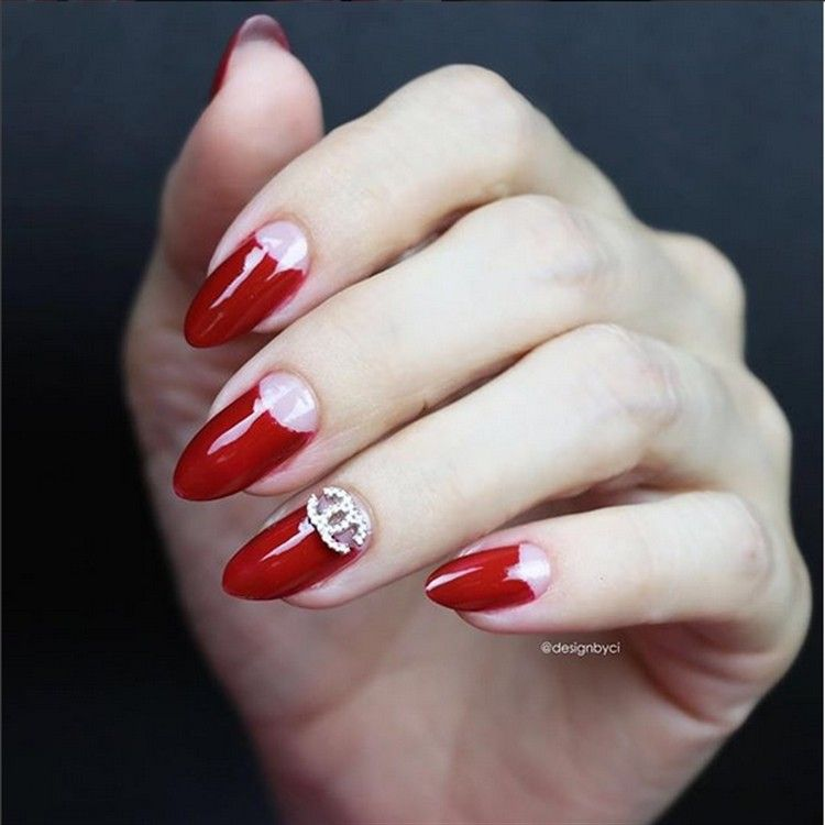 top 30 Extremely Cute Half-moon nail art You Must Try – Fashonails