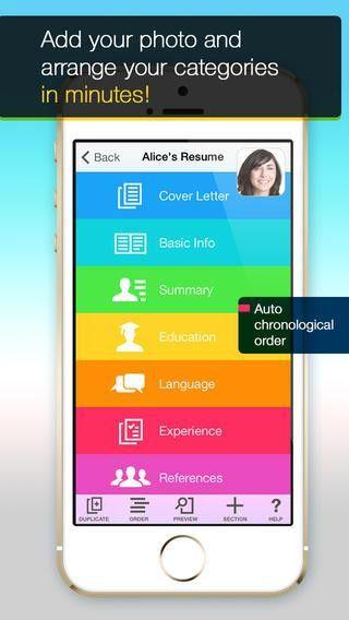mobile resume builder
