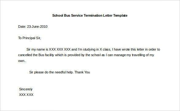 Service Termination Letter Sample 10 Service Termination Letter - sample termination letters
