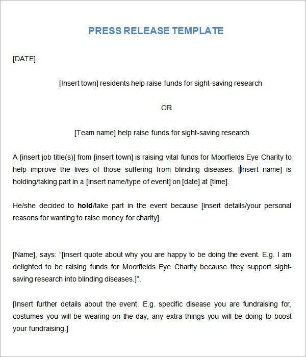 Press release new website template sample form biztreecom - press release template