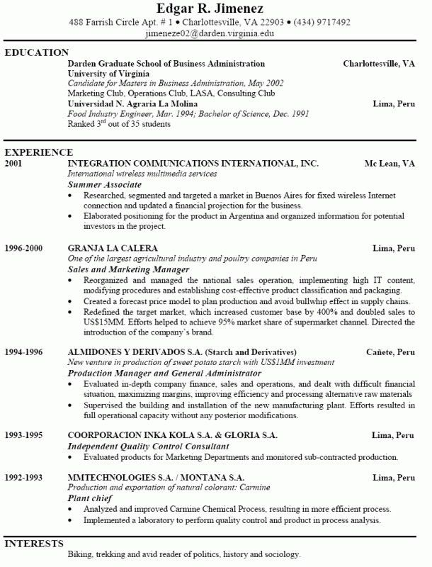 powerful resume objectives