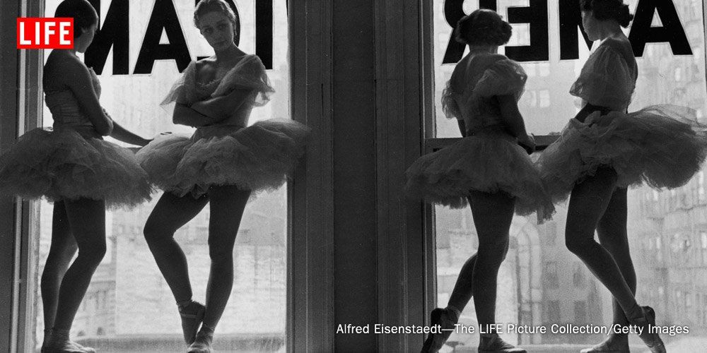 Ballerinas at George Balanchine's School of American Ballet, 1936.