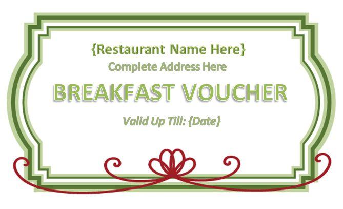 Lunch Voucher Template Meal Ticket Voucher Template, 9 Food - food voucher template