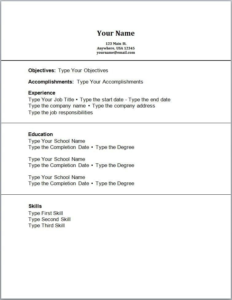 resume types different types of resumes format lovely what are