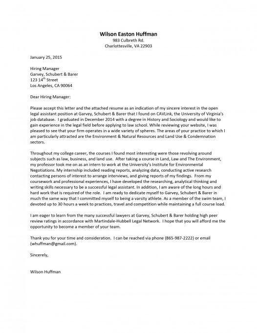 Erisa attorney cover letter - erisa attorney sample resume