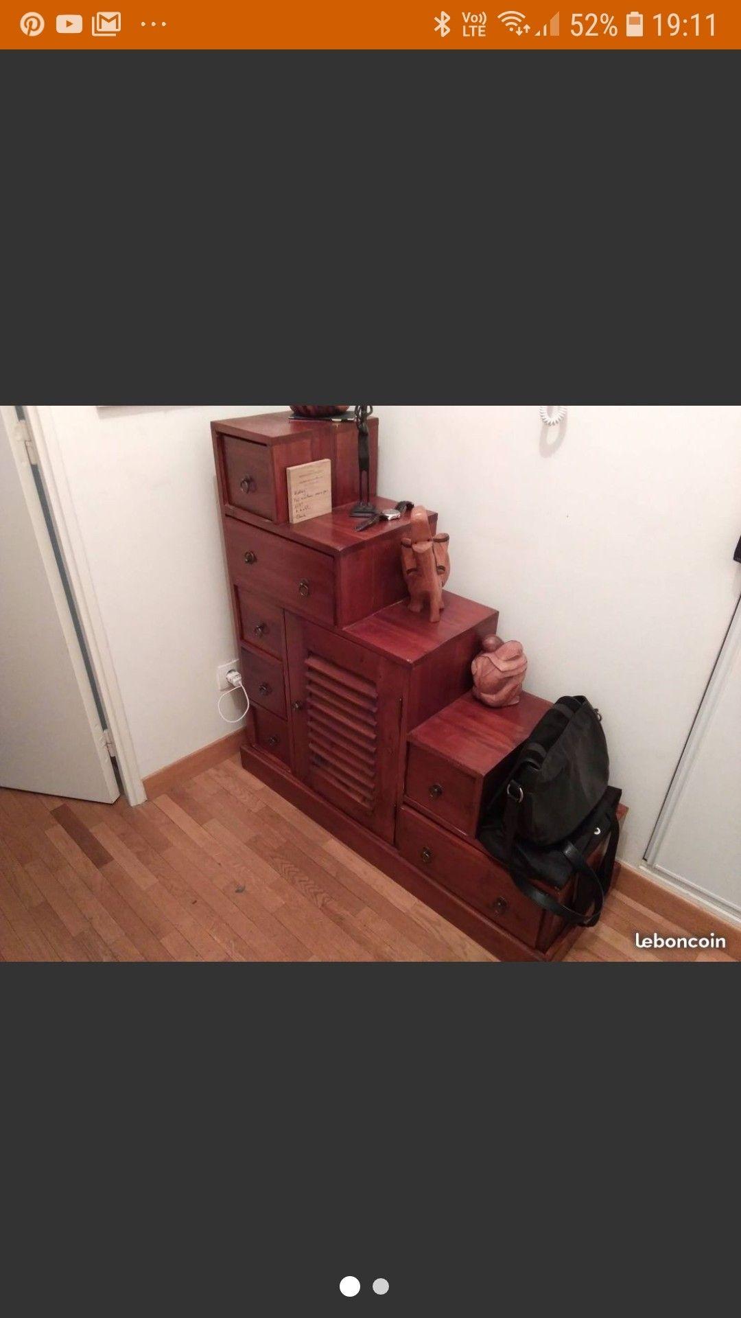 Meuble De Separation 105 105cm Cote Chevet Meuble De Separation Meuble Deco Mobilier De Salon
