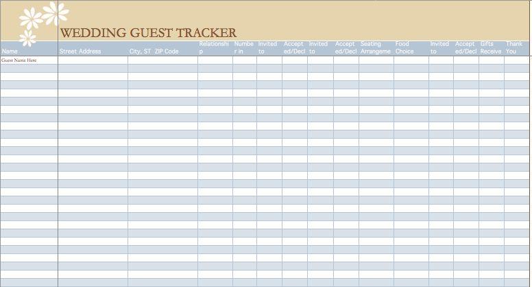Free Wedding Guest List Template 7 Free Wedding Guest List - wedding guest list template